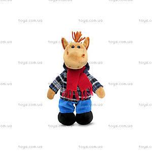 Музыкальная мягкая игрушка «Конь в пальто», LA8771