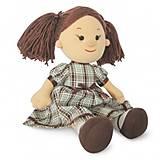 Мягкая кукла «Карина» в клетчатом платье, LF1145B