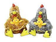 Плюшевая игрушка «Курочка Ряба с цыплёнком», LF1191, фото