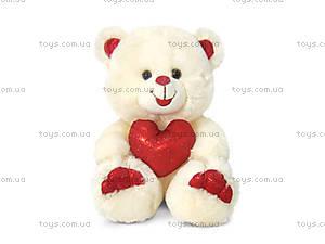 Плюшевая игрушка «Медведь бежевый с сердцем», LF1061