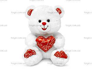 Плюшевая игрушка «Мишка белый с сердцем», LF1060