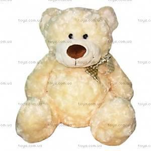Плюшевый белый медведь с бантом, 4802GMC