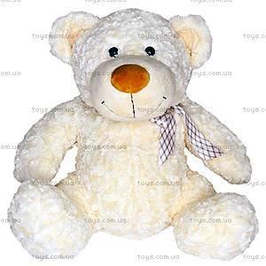 Белый плюшевый медвежонок с бантом, 4802GMG