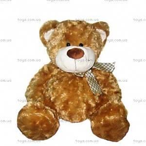 Мягкий медведь с бантом, коричневый, 4001GMC