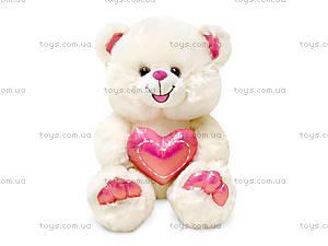 Плюшевая игрушка «Мишка с сердцем и вышивкой», LF999