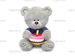 Мягкая игрушка «Медвежонок Ники с тортом», LA8786K