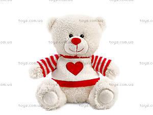 Мягкая игрушка «Медвежонок Сэмми в свитере с сердечком», LA8733D
