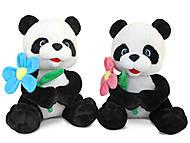 Мягкая игрушка «Панда с цветком», LF873, купить