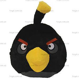 Мягкая детская игрушка Angry Birds «Птичка Черная», 90839