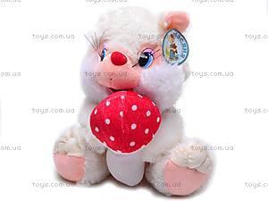 Мягкая игрушка «Белка», с грибочком, S-TY-4030