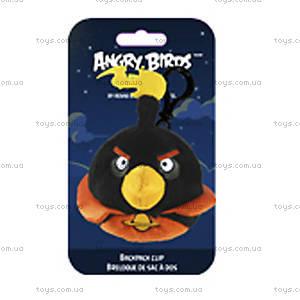 Мягкая игрушка-брелок Angry Birds Space «Черная Птичка», 92737