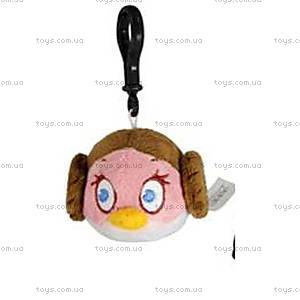 Мягкая игрушка-брелок Angry Birds Star Wars «Лея», 94285