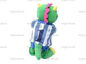 Мягкая игрушка «Динозаврик-футболист», 1439-10_2102, фото