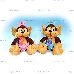 Мягкая игрушка «Мартышка с пустышкой», LA4063A