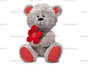 Мягкая игрушка «Медвежонок и цветок», LF1096