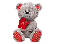 Мягкая игрушка «Медвежонок и цветок», LF1096, Украина