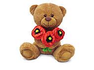 Мягкая игрушка «Медвежонок и маки», LA8733G