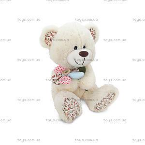 Мягкая игрушка «Медвежонок с цветком», LF1144