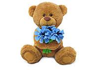 Мягкая игрушка «Медвежонок с васильками», LA8733F, купить