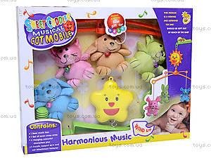 Мягкая карусель на кроватку, E036AB, детские игрушки