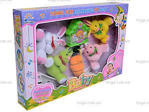 Мягкая карусель «Зайчики», 699-16, детские игрушки