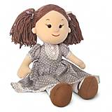 Мягкая кукла «Карина» в коричневом платье в горошек, LF1145C