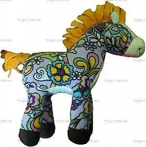 Мягкая лошадка с оранжевой гривой, D1225820-2