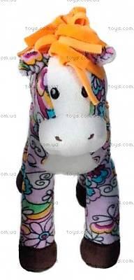Мягкая лошадка с оранжевой гривой, D1225820-2, купить