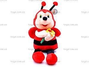 Мягкая музыкальная игрушка «Пчелка», M-CW-8273-2