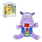 Мягкая музыкальная игрушка «Бегемот» Baby Gift, 5055, фото