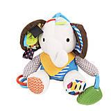 Мягкая погремушка-брелок «Слоник», ВТ-Т-0220, детские игрушки