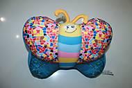 Мягкая игрушка антистресс SOFT TOYS «Бабочка», джинс, DT-ST-01-56