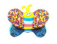 Мягкая игрушка антистресс SOFT TOYS «Бабочка», джинс, DT-ST-01-56, купить игрушку