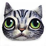 Мягкая игрушка антистресс SOFT TOYS «Кот глазастик», полосатый, DT-ST-01-04, оптом