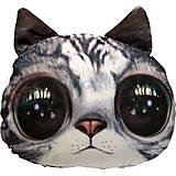 Мягкая игрушка антистресс SOFT TOYS «Кот глазастик», серый, DT-ST-01-02, фото