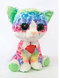 Мягкая игрушка-глазастик «Котик» цветной, KGL0R\S, отзывы