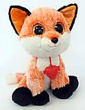 Мягкая игрушка-глазастик «Лиса», GLN0R\S, купить