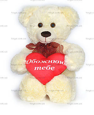 Мягкий медведь «Мика с сердцем», MMK1B