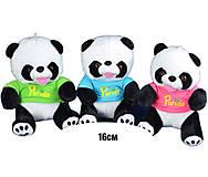 Мягкая игрушка «Панда» в футболке, 70357, отзывы