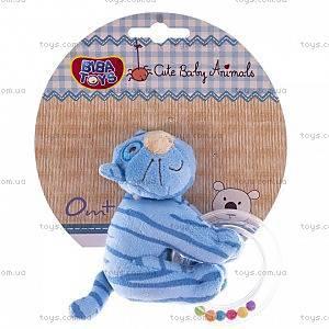 Мягкая игрушка-погремушка «Котенок», 618QB cat