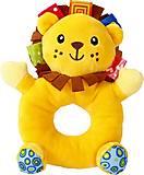 Мягкая игрушка-погремушка «Львёнок», F 1002, отзывы