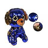 Мягкая игрушка с пайетками «Собачка», PL1904, детские игрушки