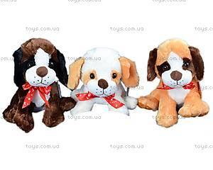Мягкая игрушка Собака с бантом, A6-6209