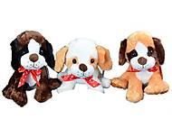 Мягкая игрушка Собака с бантом, A6-6209, іграшки