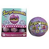 Мягкая игрушка-сюрприз в шаре «SURPRIZAMALS S3», SUR20255