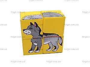 Мягкие кубики «Дикие животные», , фото
