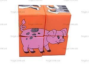 Мягкие кубики «Домашние животные», , фото