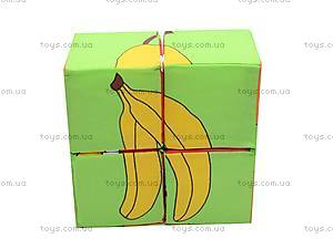 Мягкие кубики «Фрукты», , фото