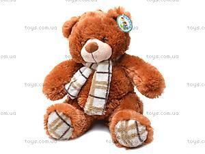 Мягкий детский медведь, с шарфом, S-YZ-4036/30S