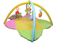 Мягкий коврик для малышей, с погремушками , 898-8B